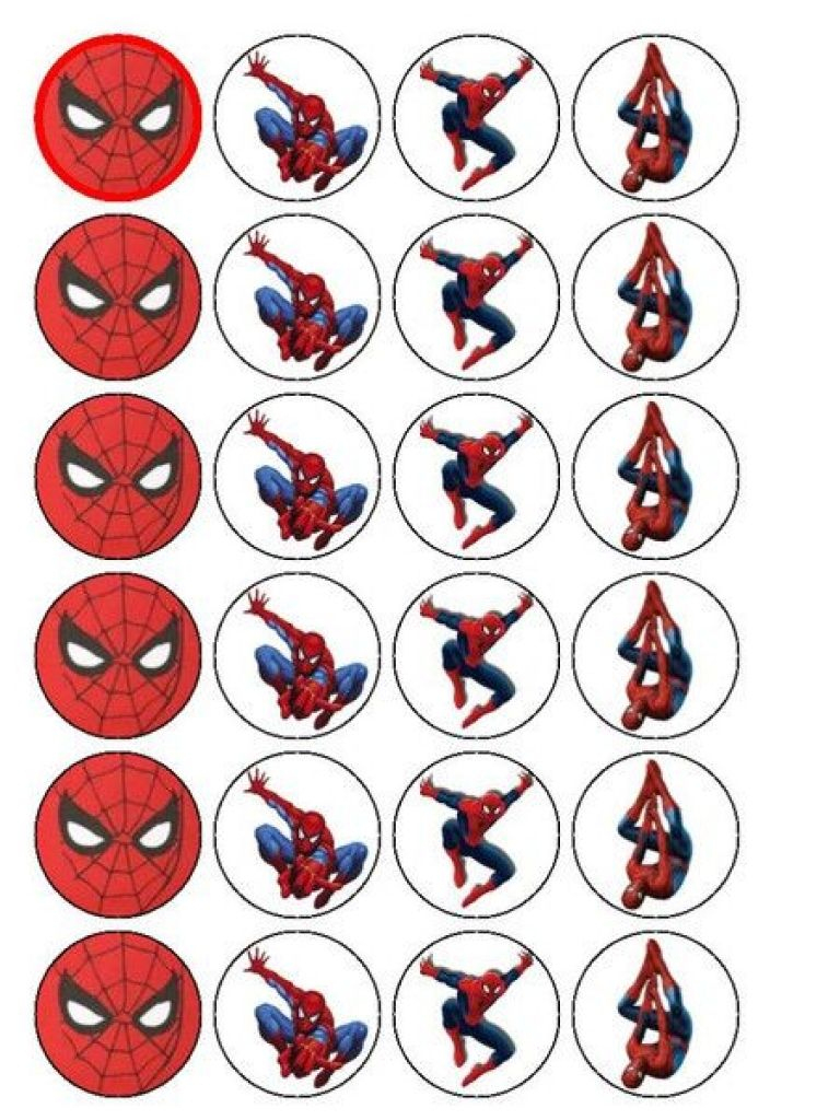 Free Printable Cupcake Wrappers And Toppers With Spiderman - Free Printable Spiderman Pictures