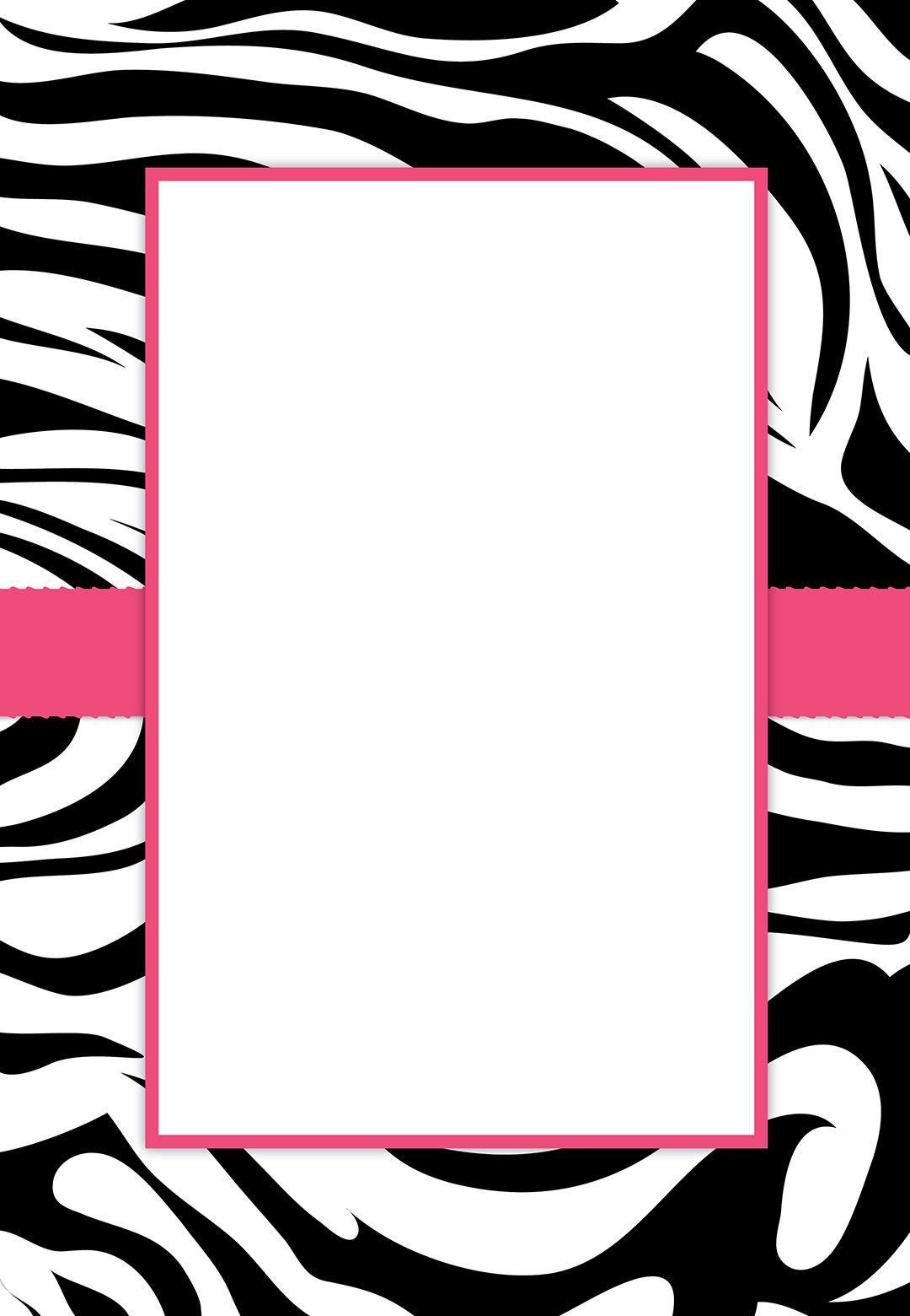 Free #printable Customizable Zebra Stripes #party Invitation | Party - Free Printable Animal Print Birthday Invitations
