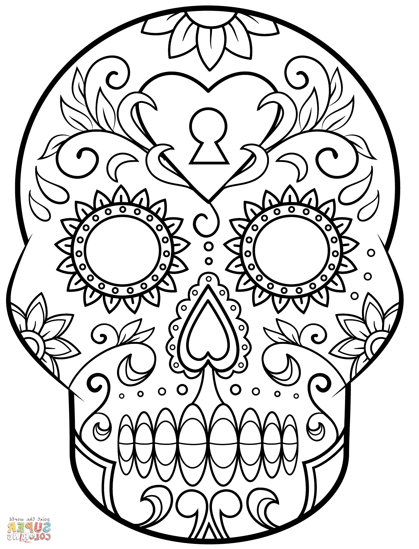 Free Printable Day Of The Dead Coloring Pages | Crafted Here - Free Printable Day Of The Dead Coloring Pages