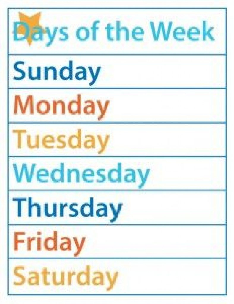 Free Printable Days Of The Week Cards   Free Printable - Free Printable Days Of The Week Cards
