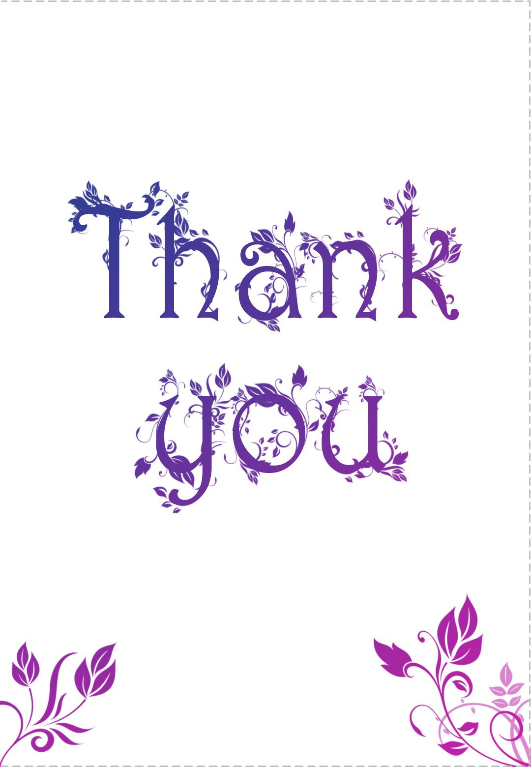 Free Printable Decorated Thank You Card Greeting Card-----Great Site - Free Printable Greeting Card Sentiments