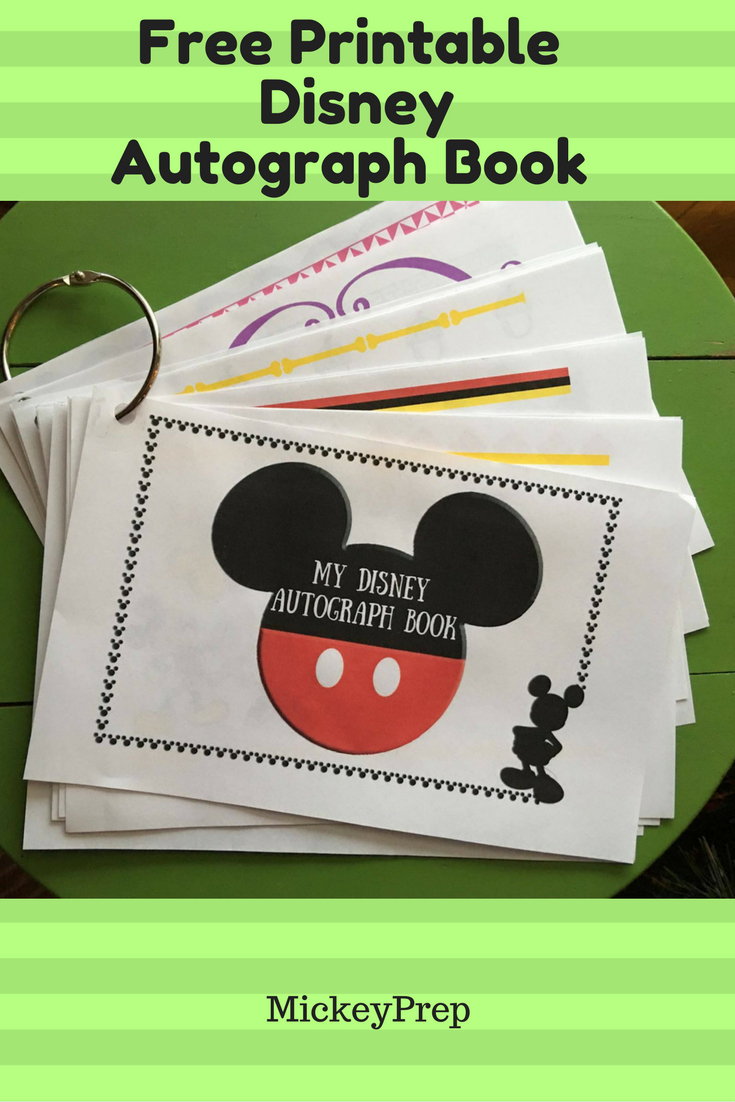 Free Printable Disney Autograph Book For An Upcoming Disney World Trip - - Free Printable Autograph Book For Kids
