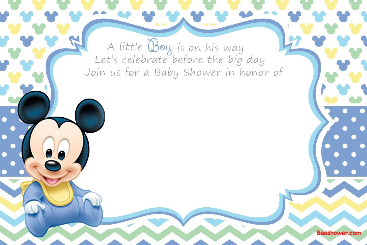 Free Printable Disney Baby Shower Invitations | Free Printable - Free Printable Baby Sprinkle Invitations