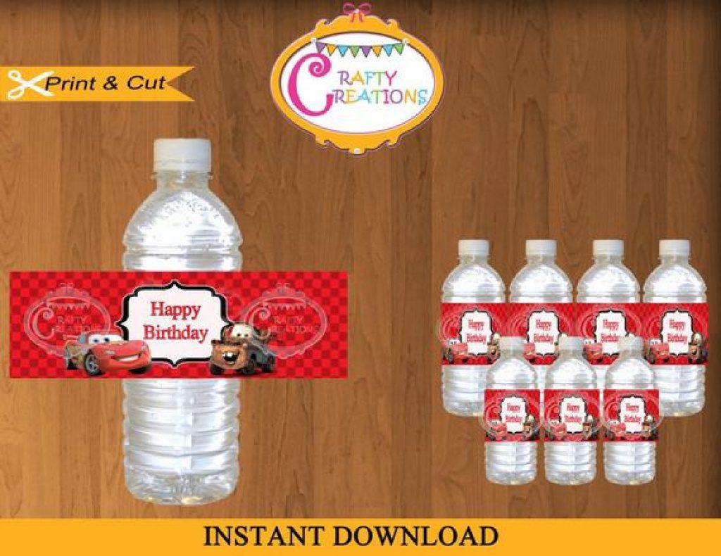 Free Printable Disney Cars Water Bottle Labels | Free Printable - Free Printable Disney Cars Water Bottle Labels