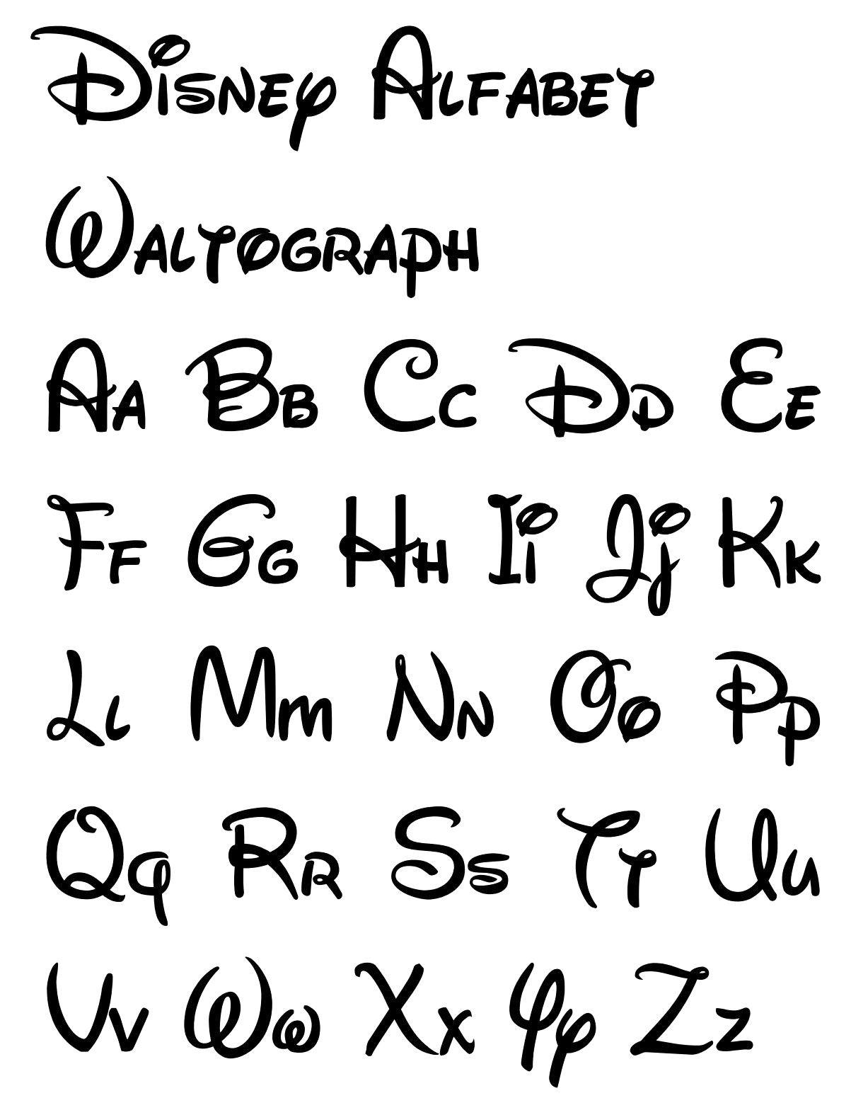 Free Printable Disney Letter Stencils | Disney | Pinterest - Free Printable Calligraphy Letter Stencils