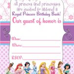 Free Printable Disney Princess Ticket Invitation | Printable   Free Printable Personalized Birthday Invitation Cards