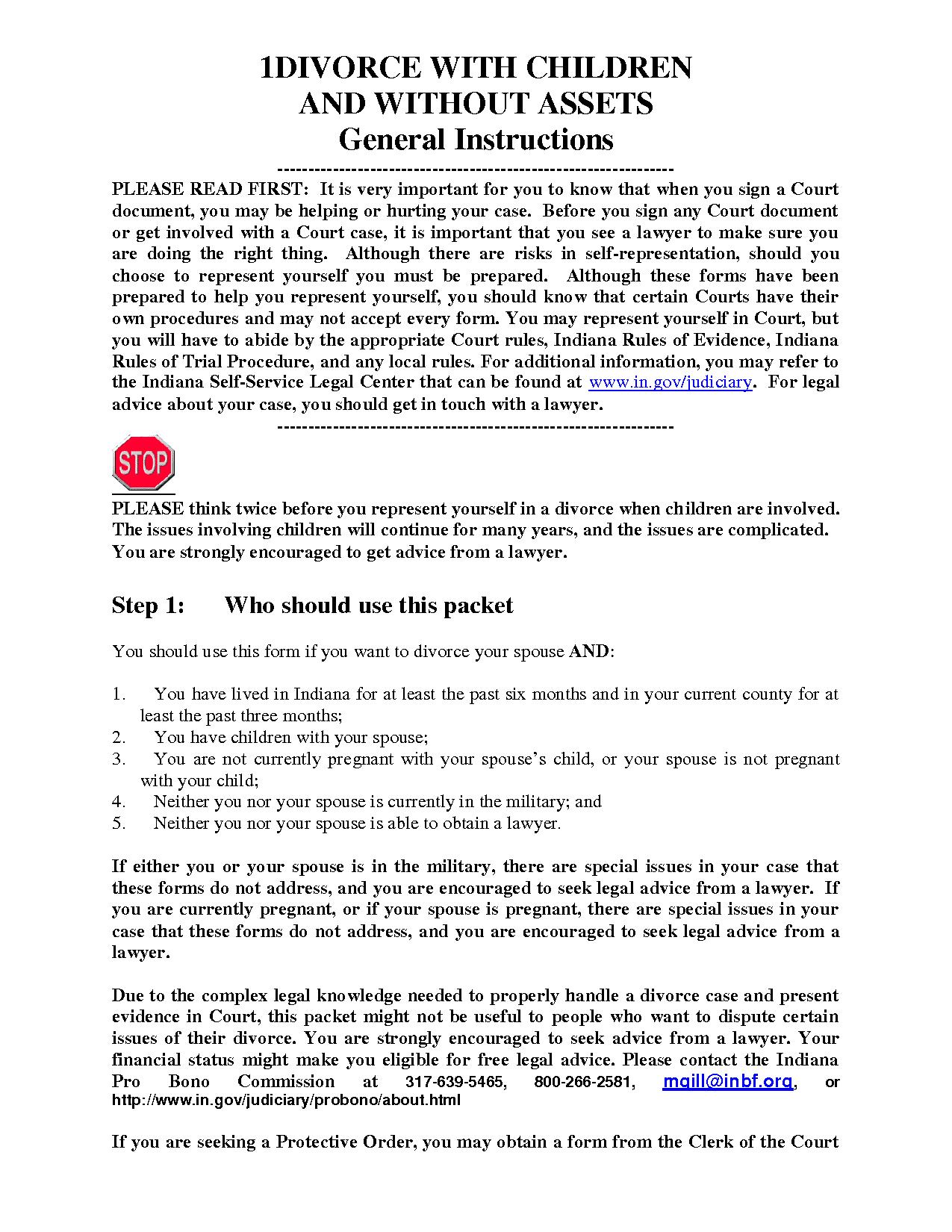 Free Printable Divorce Documents Form (Generic) Forms Papers Pics - Free Printable Documents