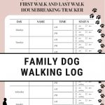 Free Printable Dog Walking Log   How To Set A Schedule And Develop A   Free Printable Walking Log