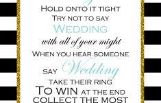 Free Printable Don't Say Wedding Game | Bridal Shower In 2019 – Free Printable Bridal Shower Raffle Tickets