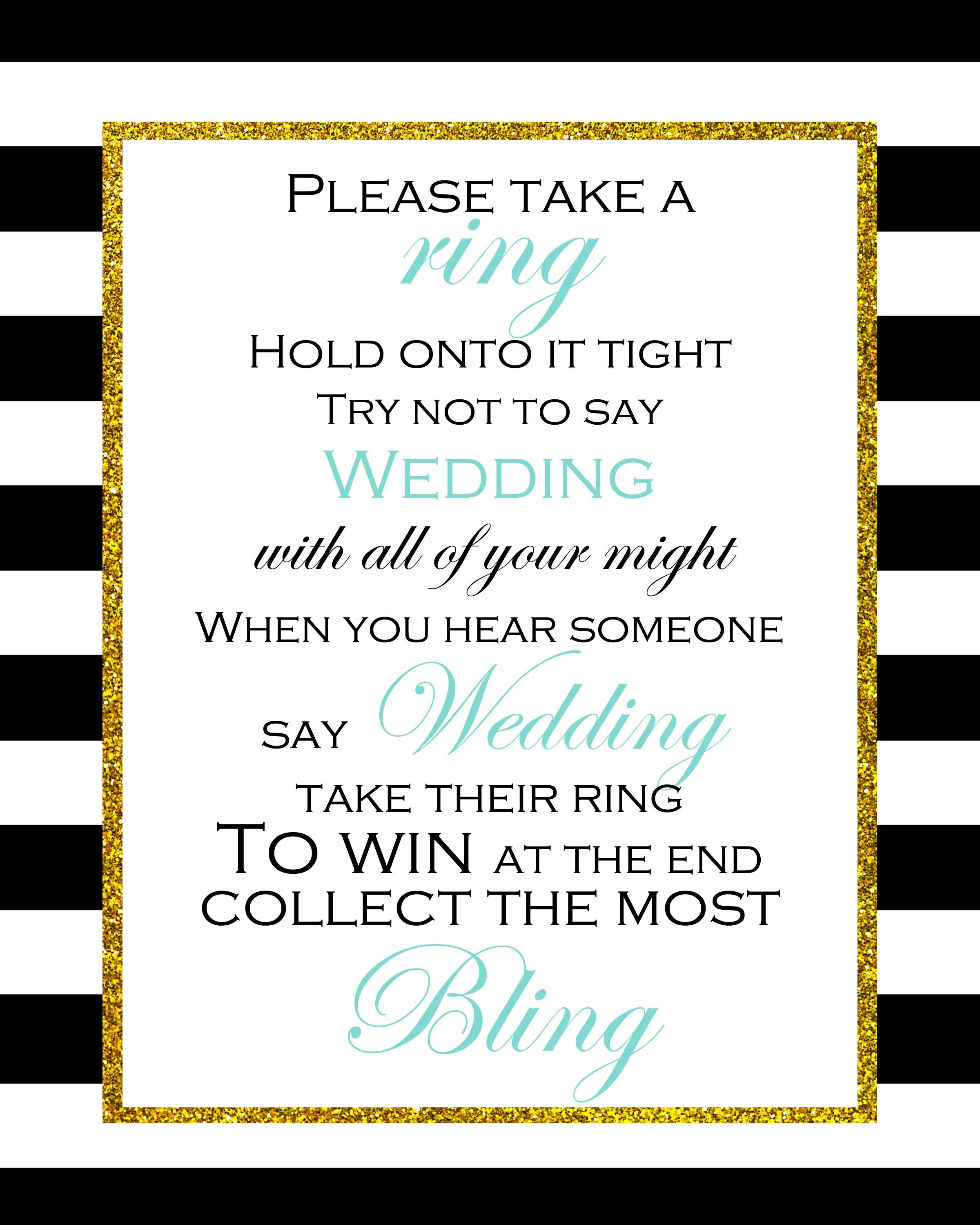 Free Printable Don't Say Wedding Game | Bridal Shower In 2019 - Free Printable Bridal Shower Raffle Tickets