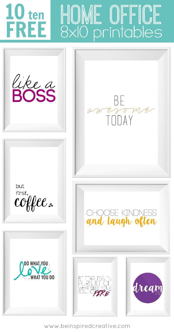 Free Printable Download: 10 Home Office Prints | Freebies | Office - Free Printable Funny Office Signs