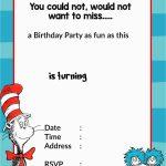 Free Printable Dr Seuss Birthday Invitations Free Printable Birthday   Dr Seuss Free Printable Templates