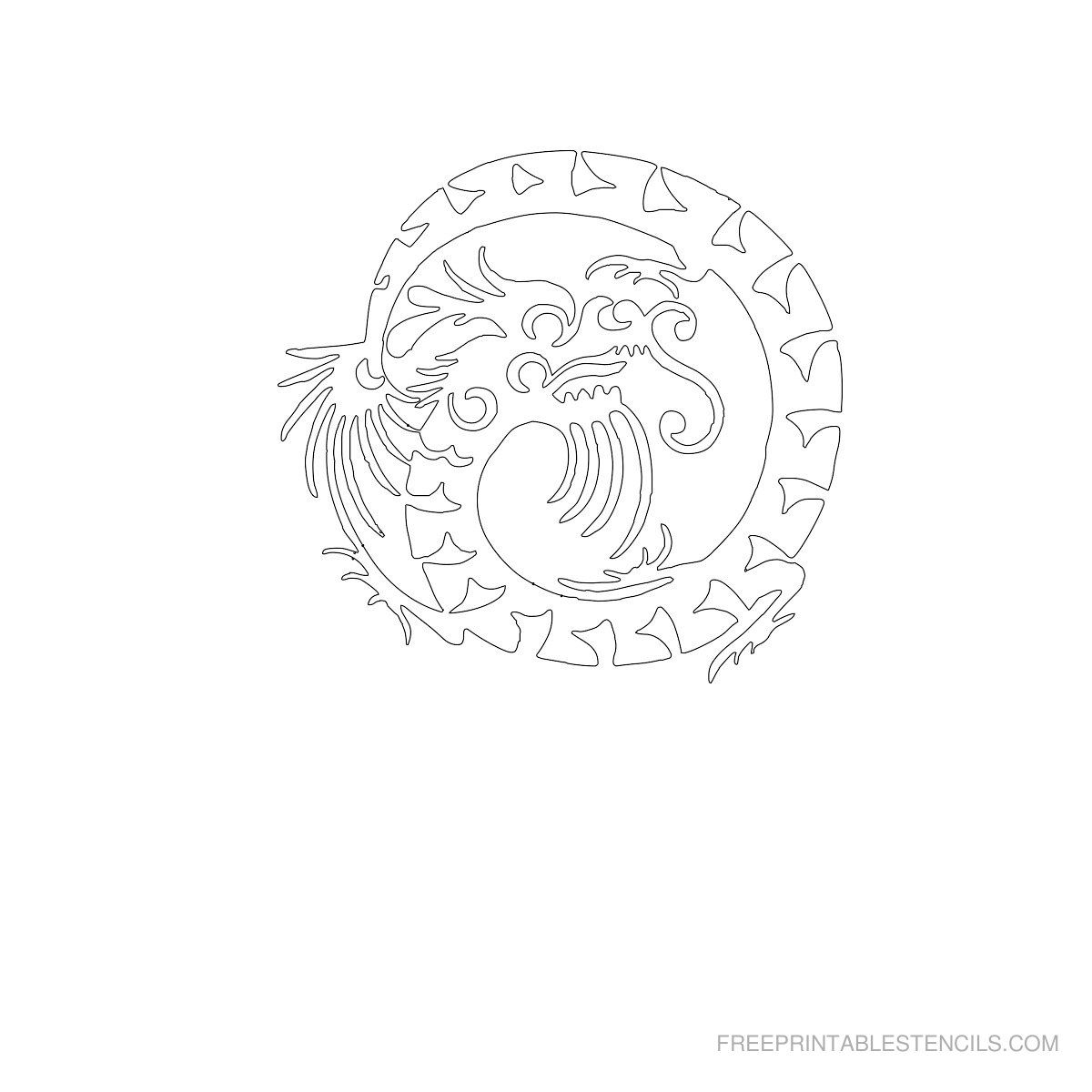 Free Printable Dragon Stencil F | Crafts To Try | Pinterest - Free Printable Dragon Stencils
