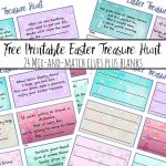 Free Printable Easter Treasure Hunt: 24 Mix & Match Clue Plus Blanks   Free Printable Treasure Hunt Games