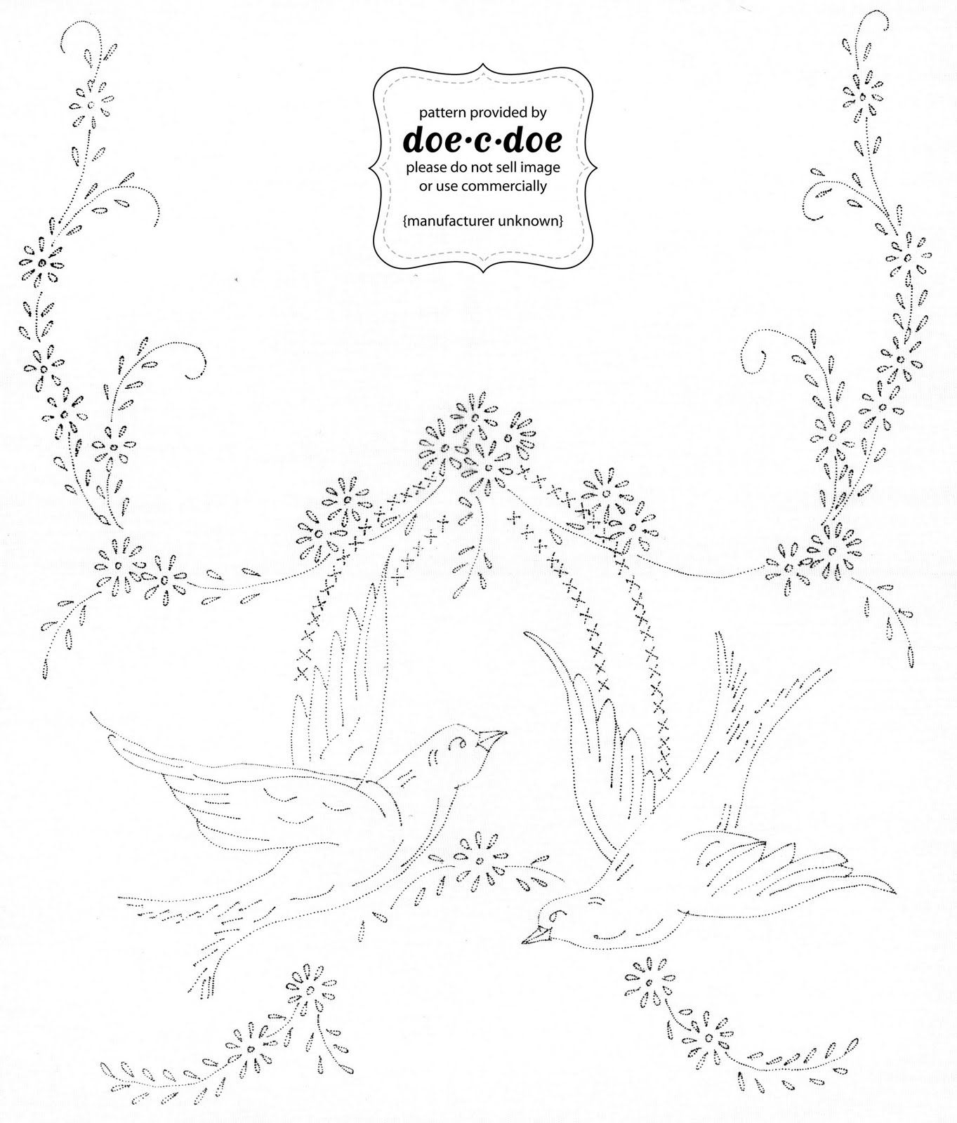 Free Printable Embroidery Patterns | Thursday, October 21, 2010 - Free Printable Embroidery Patterns