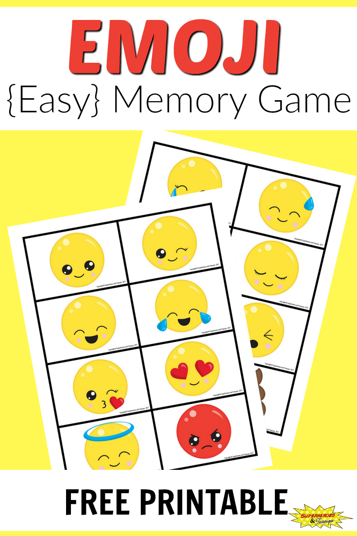 Free Printable Emoji Memory Game For Kids | After School Activities - Free Printable Matching Cards