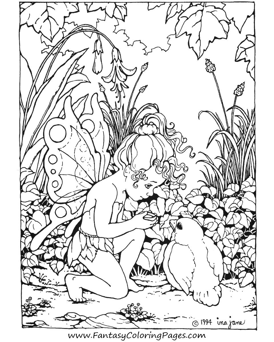 Free Printable Fairy Coloring Pages For Kids | Coloring Page - Free Printable Fairy Coloring Pictures