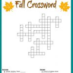 Free Printable Fall Crossword Puzzle In Puzzle Sheets To Print   Free Printable Fill In Puzzles