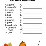 Free Printable   Fall Word Unscramble | Games For Senior Adults   Free Printable Word Jumble Puzzles For Adults