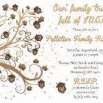 Free Printable Family Reunion Flyer Templates Elegant Reunion   Free Printable Family Reunion Invitations
