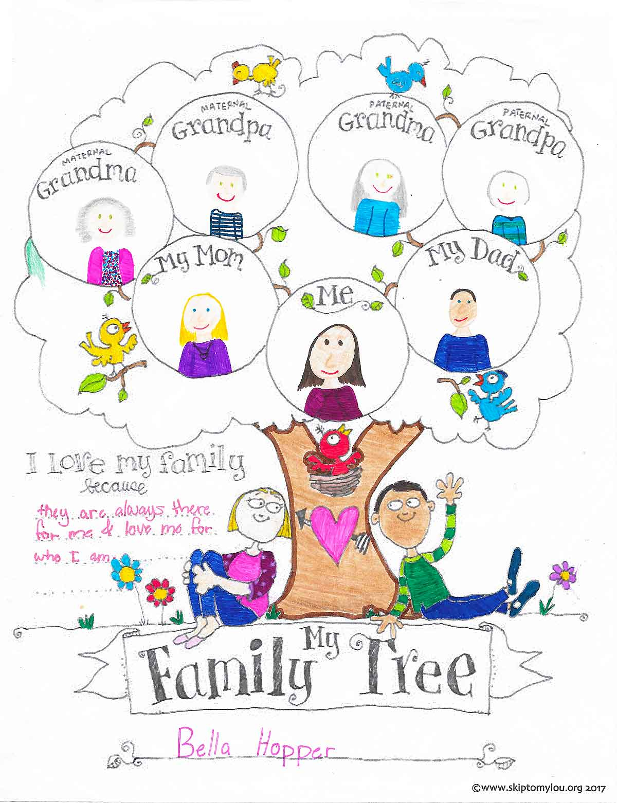 Free Printable Family Tree Coloring Page | Skip To My Lou - Free Printable Family Tree