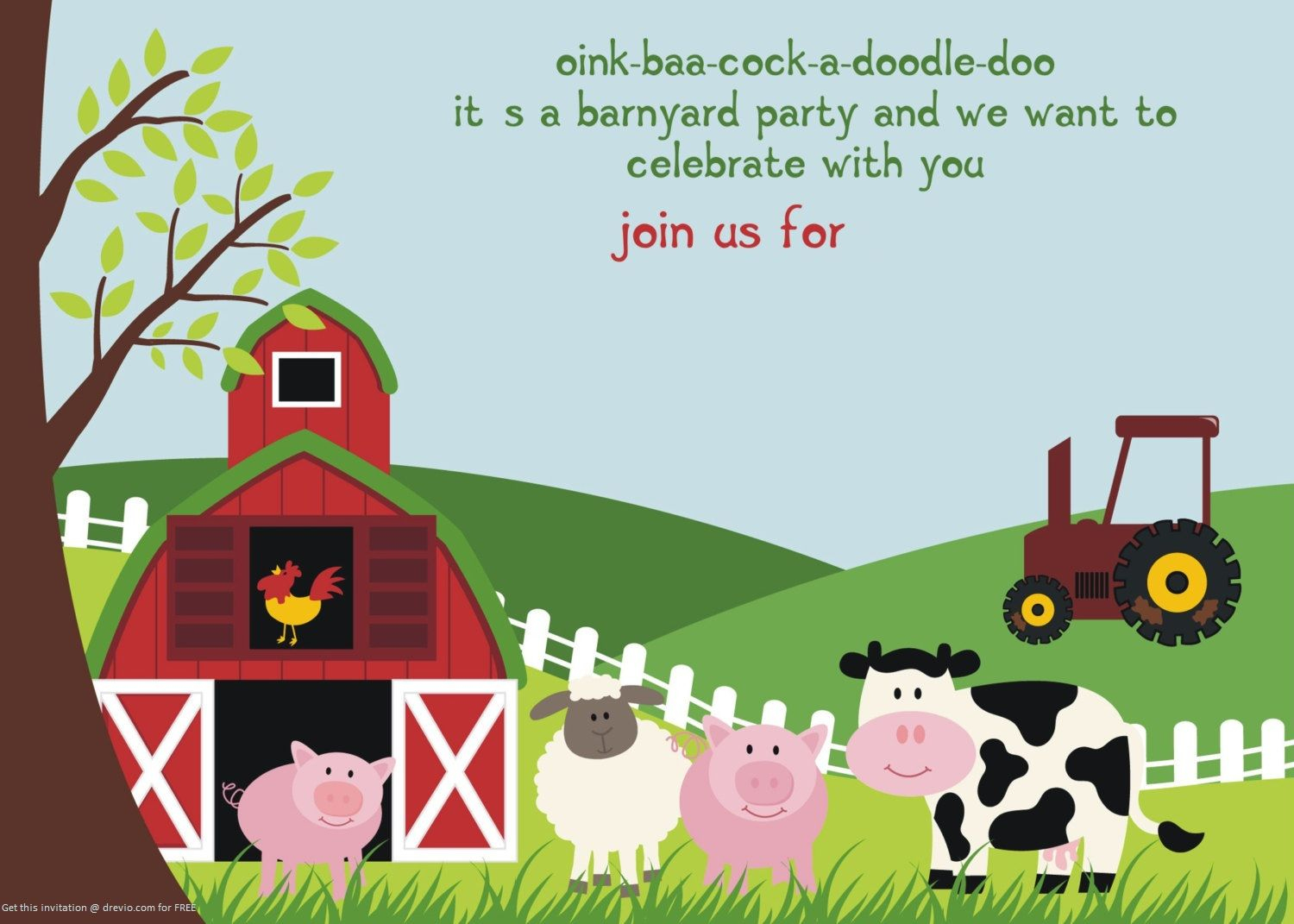 Free Printable Farm Animals Birthday Invitation | Free Printable - Free Printable Farm Animals