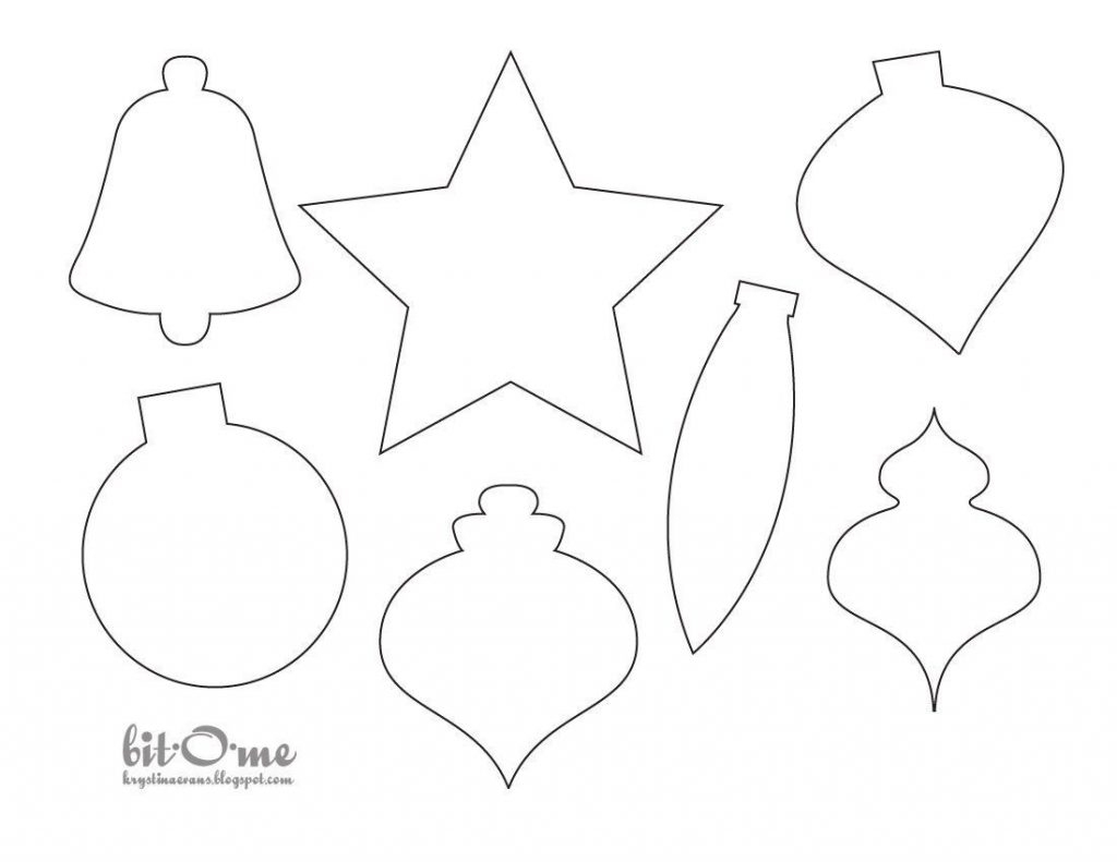 Free Printable Felt Christmas Ornament Patterns – Festival Collections - Free Printable Felt Christmas Ornament Patterns