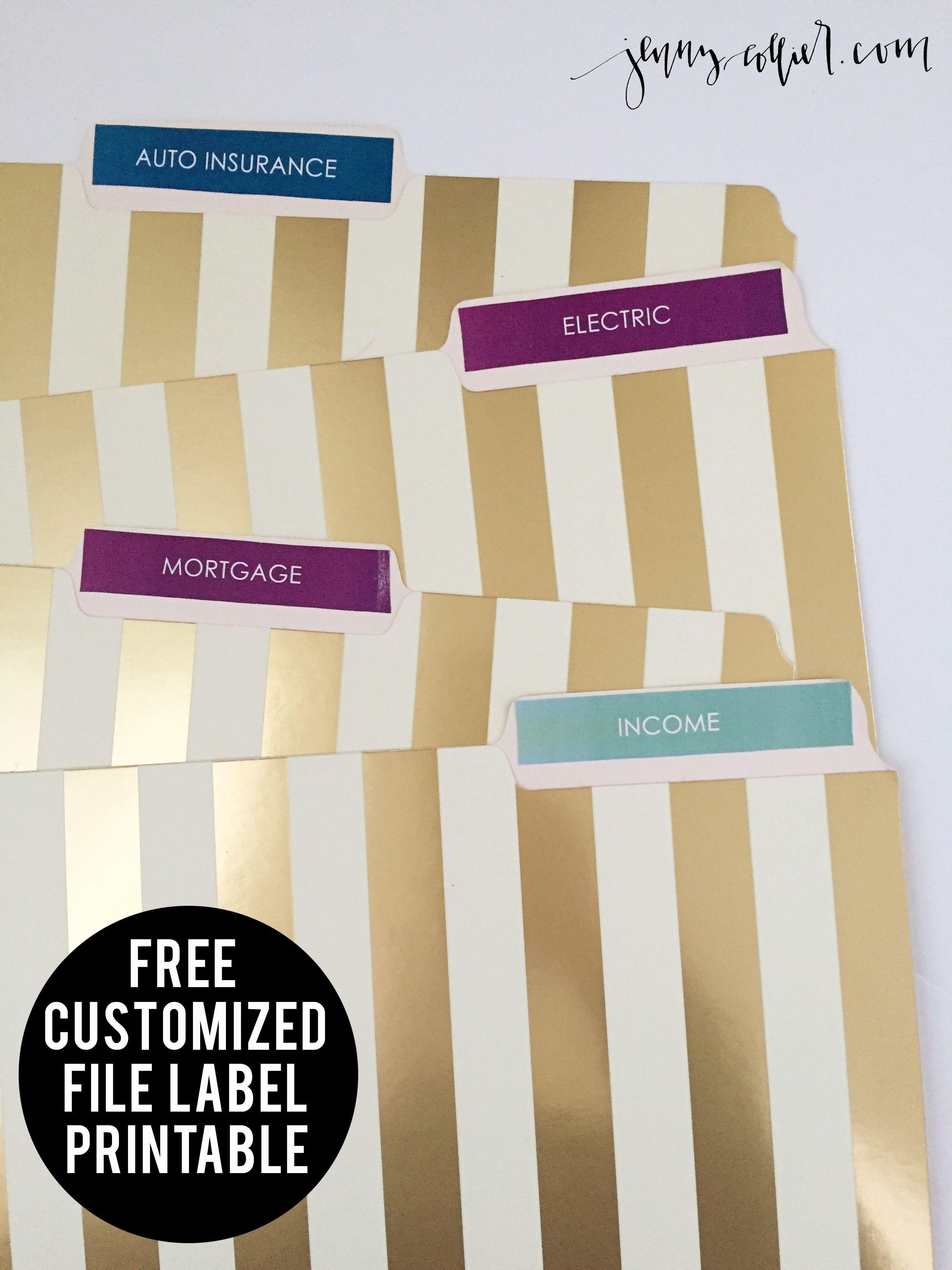 Free Printable File Labels   Free Printables   Free Printables - Free Printable File Labels