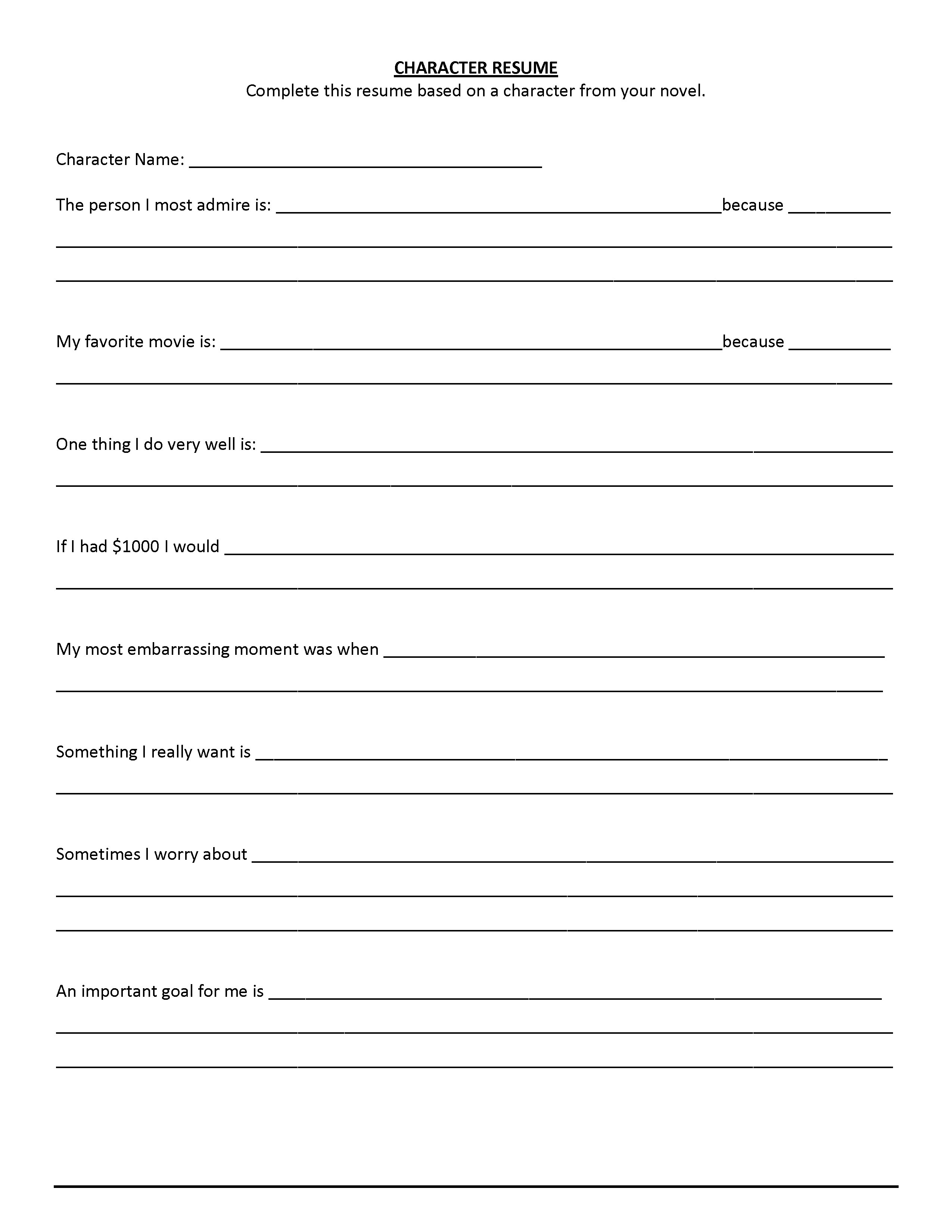 Free Printable Fill In The Blank Resume Templates | | Business - Free Printable Fill In The Blank Resume Templates