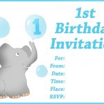 Free Printable First Birthday Invitations For Boy For Donny   Customized Birthday Cards Free Printable