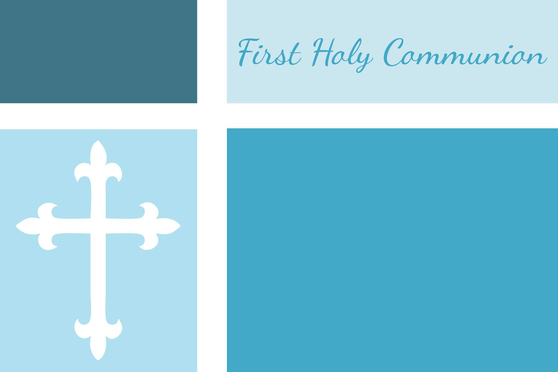 Free Printable First Communion Banner Templates Cool Free Communion - Free Printable First Communion Invitation Templates