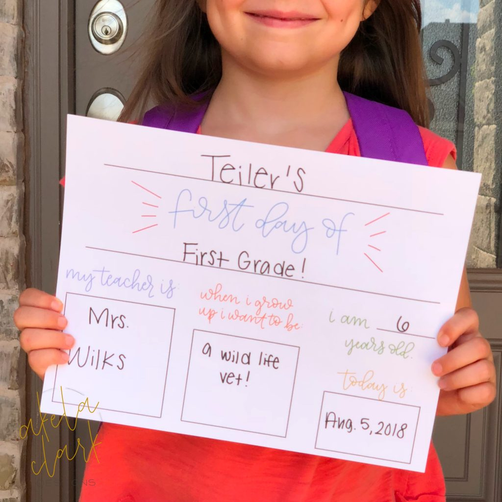 Free Printable! - First Day Of School Sign! | All Things Thrifty - Free Printable Smile Your On Camera