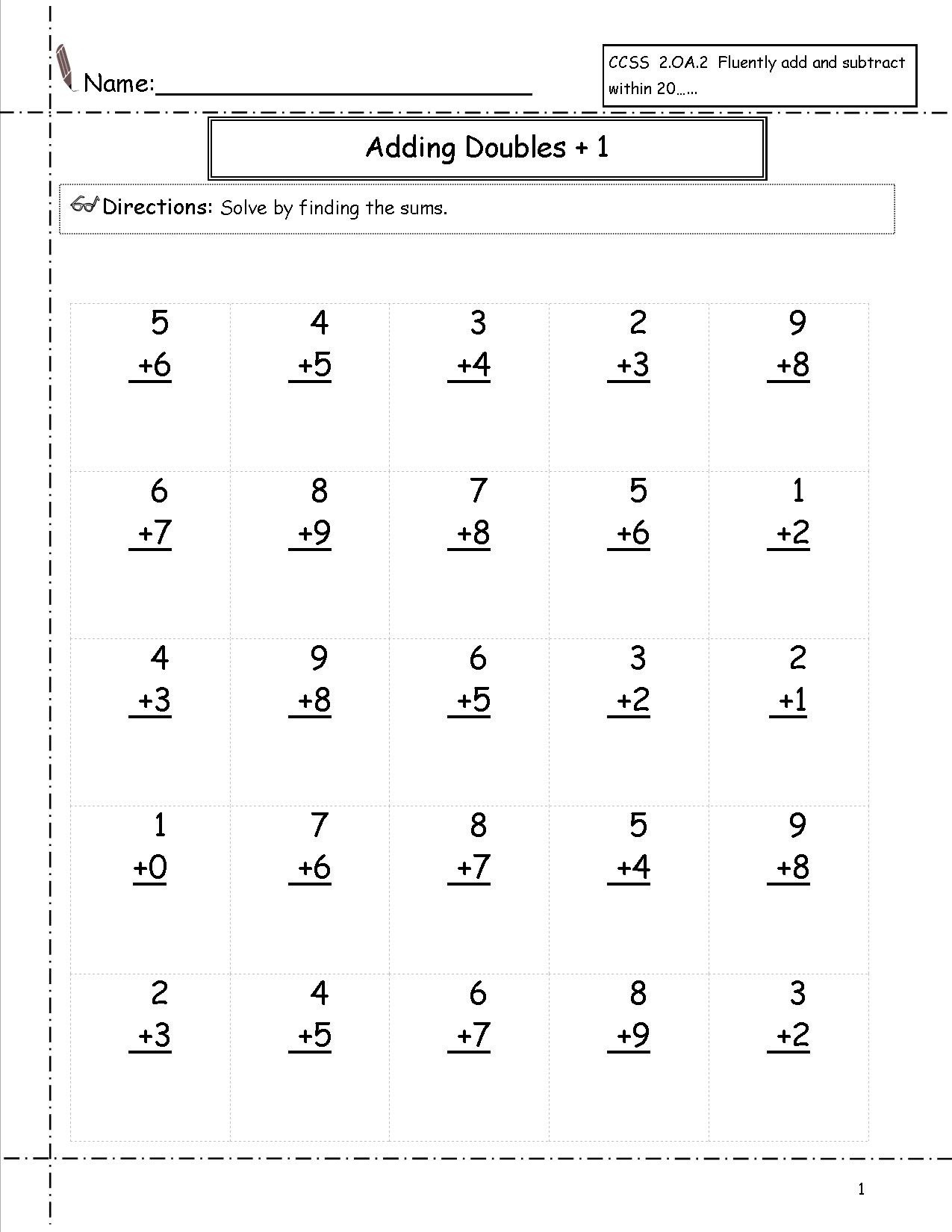 Free Printable First Grade Math Worksheets The Best Image 1275×1650 - Free Printable First Grade Math Worksheets