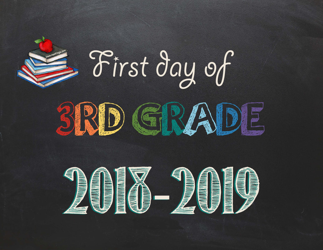 Free Printable First & Last Day Of School Signs 2018-2019 - Neatlings - First Day Of 3Rd Grade Free Printable