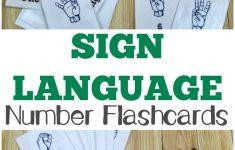 Free Printable Flashcards: Asl Number Flashcards – Sign Language Flash Cards Free Printable