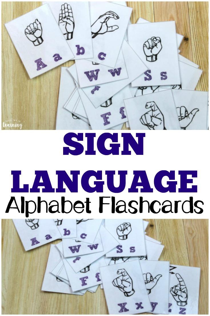 Free Printable Flashcards: Sign Language Alphabet - Sign Language Flash Cards Free Printable