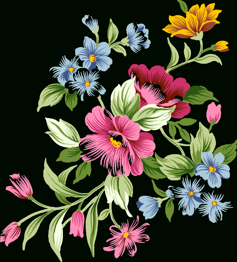 Free Printable Flower Library - Rr Collections - Free Printable Clip Art Flowers
