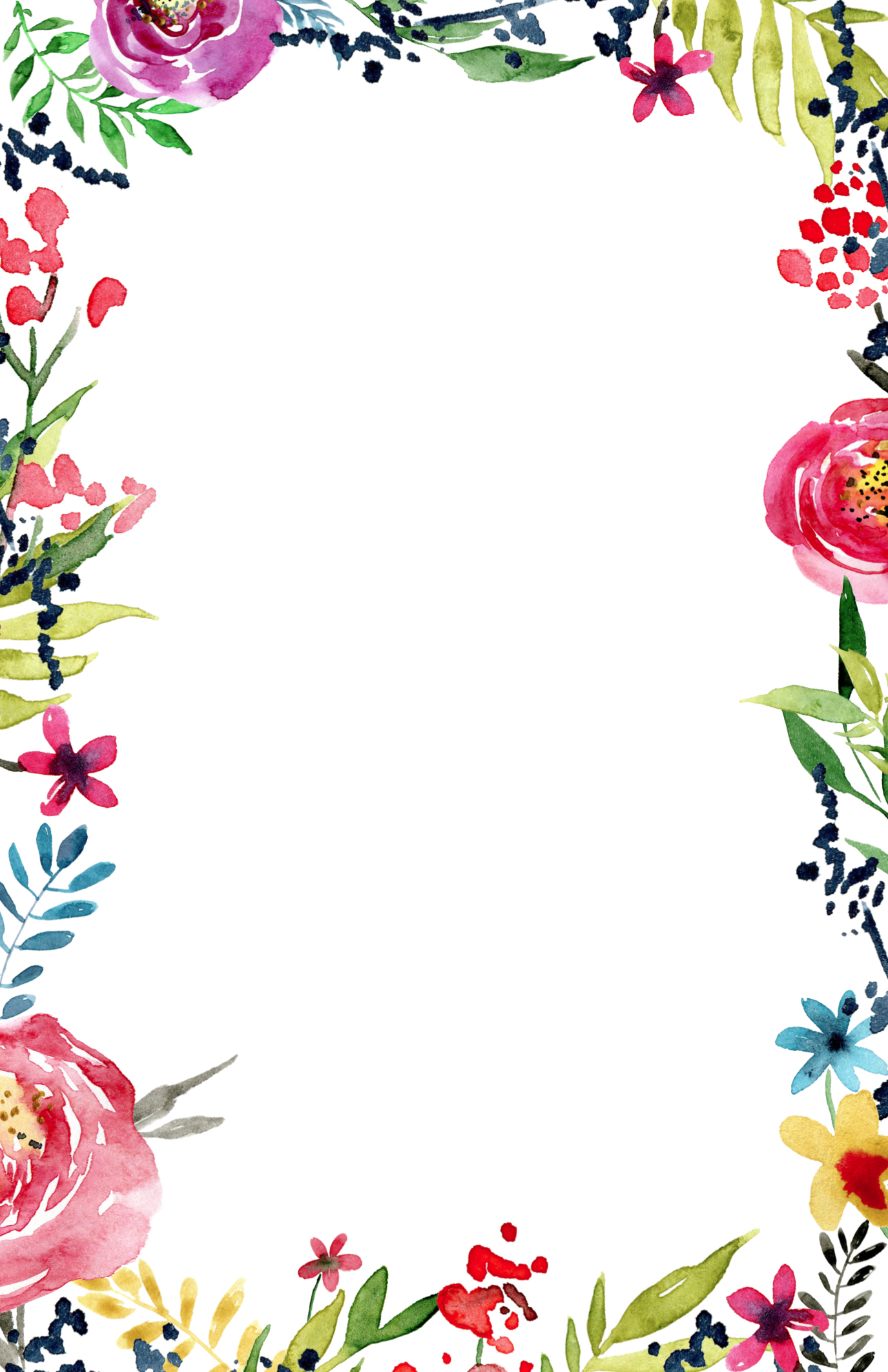 Free Printable Flower Page Borders Clipart Collection - Free Printable Borders