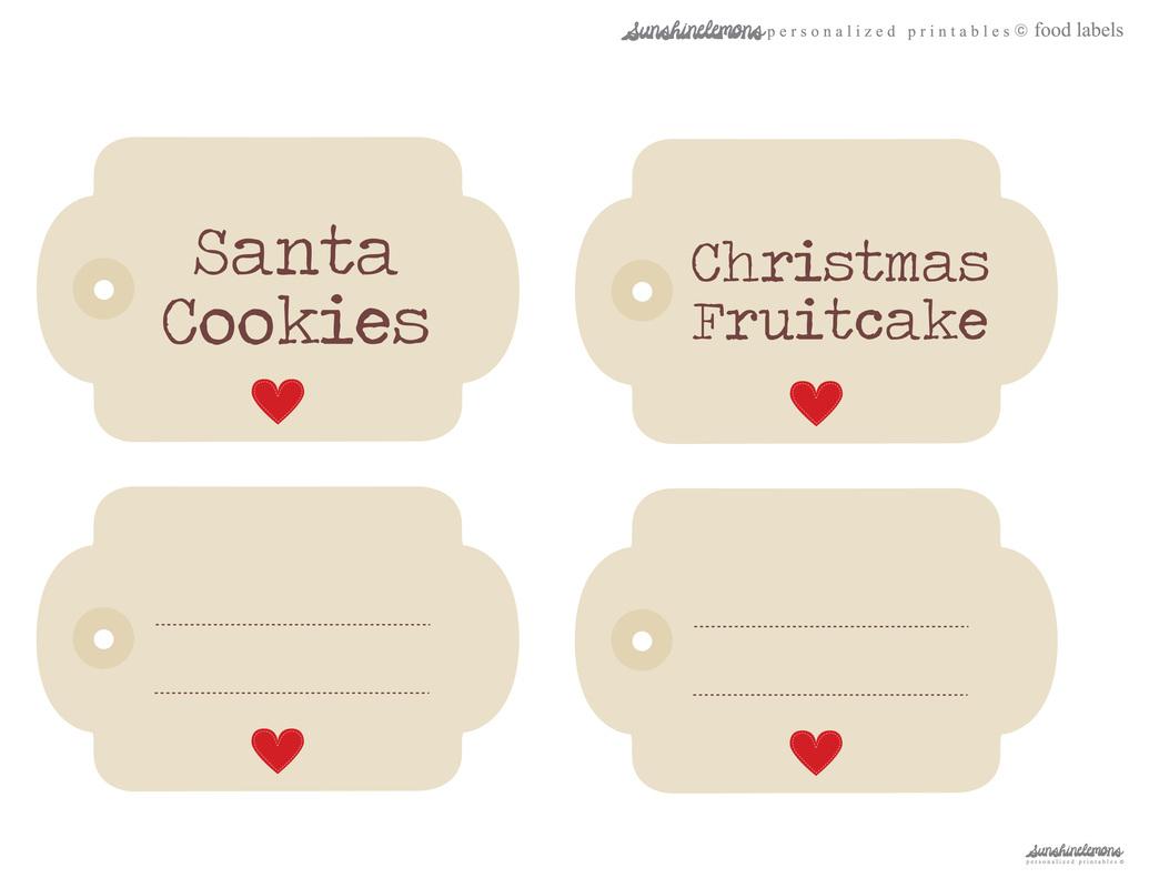 Free Printable Food Labels - Sunshine Lemons   Digital Scrapbooking - Free Printable Food Labels