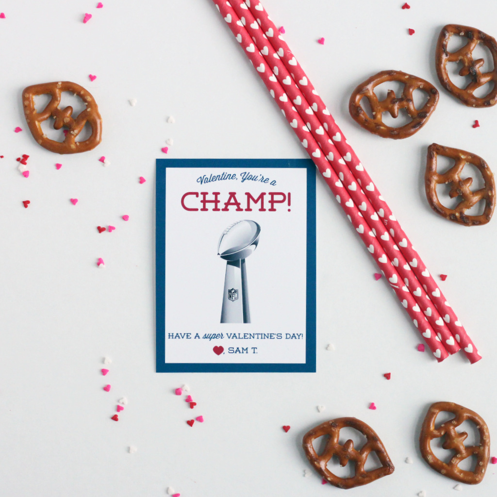 Free Printable Football Valentine's Day Classroom Cards - Mirabelle - Free Printable Football Valentines Day Cards
