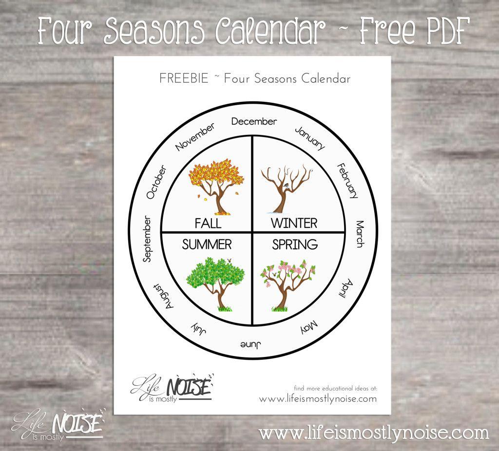 Free Printable - Four Seasons Wheel Calendar. ~ Print, Cut, Laminate - Free Printable Pictures Of The Four Seasons