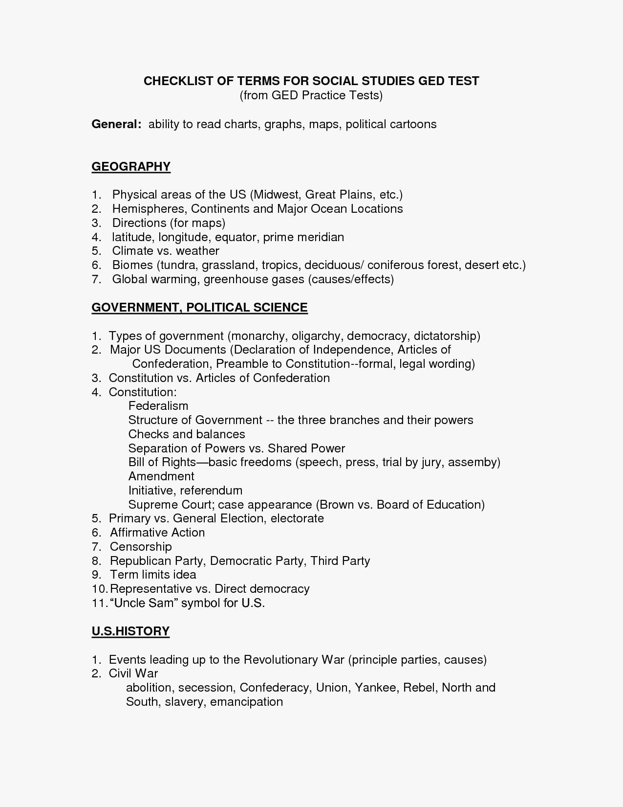 Free Printable Ged Math Worksheets Ged Tasc Class - Classy World - Free Printable Ged Science Worksheets