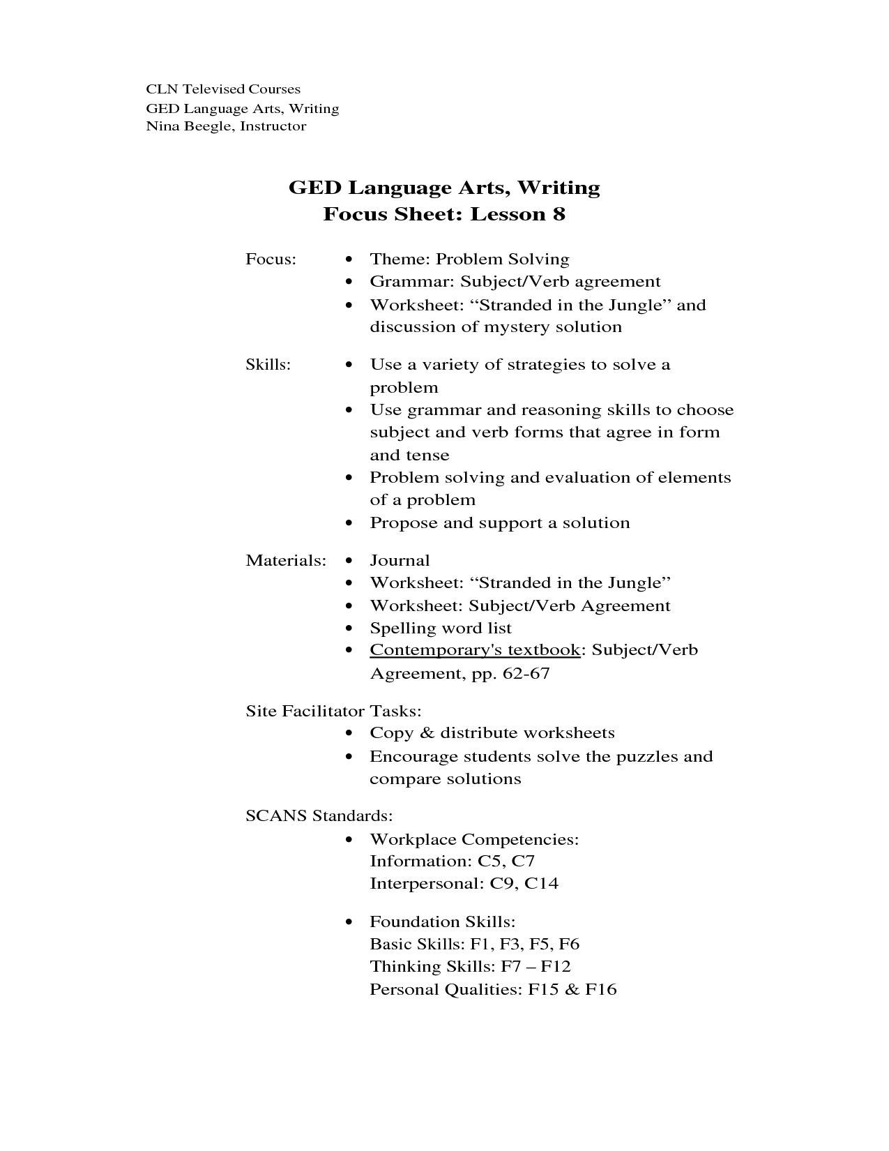 Free Printable Ged Reading Practice Test | Download Them Or Print - Free Printable Ged Study Guide 2016