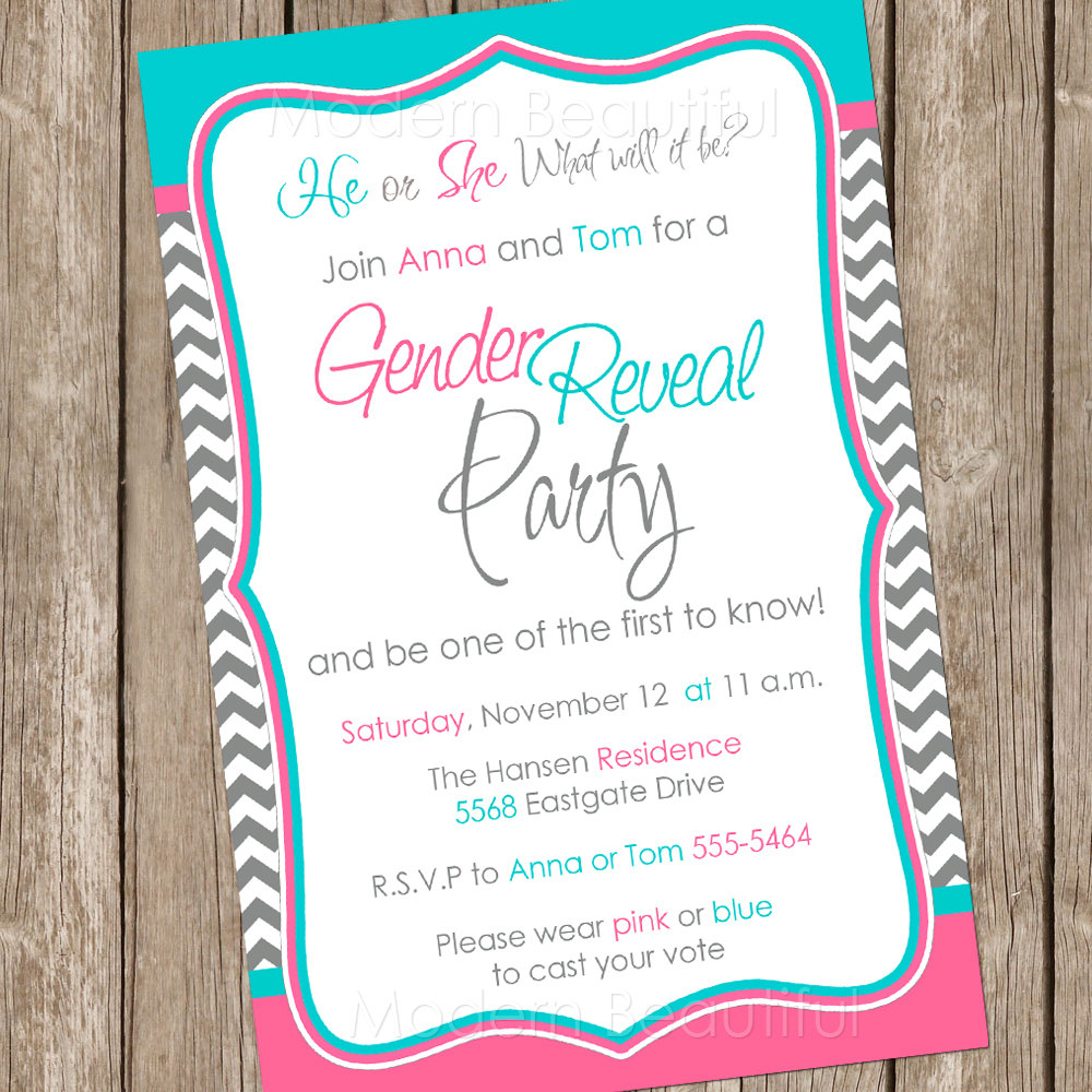Free Printable Gender Reveal Party Invitations Free Printable Gender - Free Printable Gender Reveal Templates