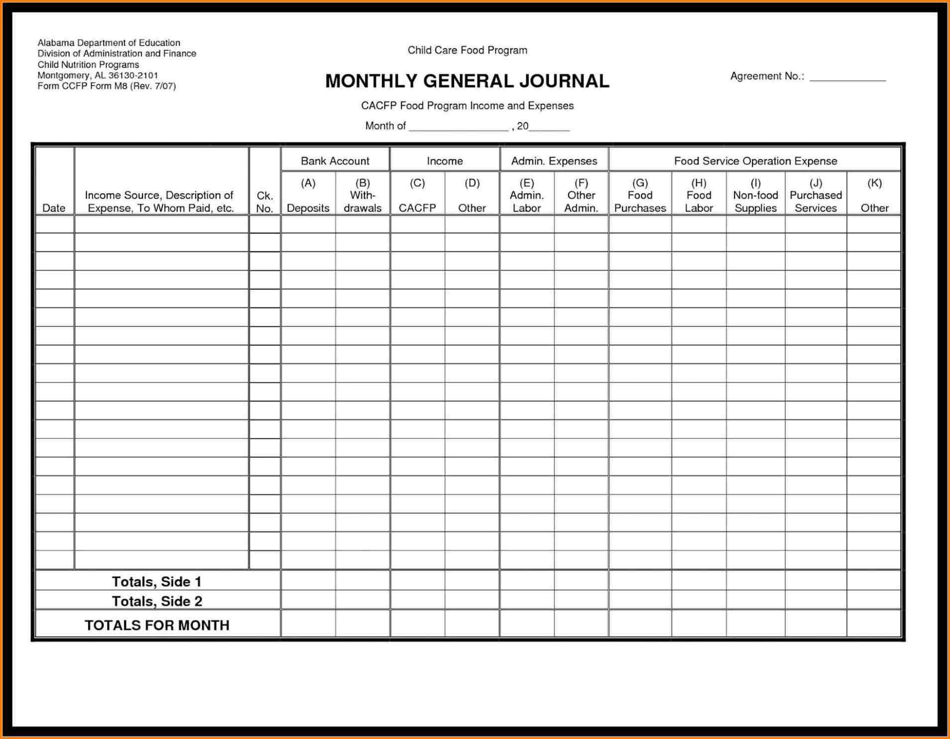 Free Printable General Ledger Paper - Clgss - Free Printable Ledger Sheets
