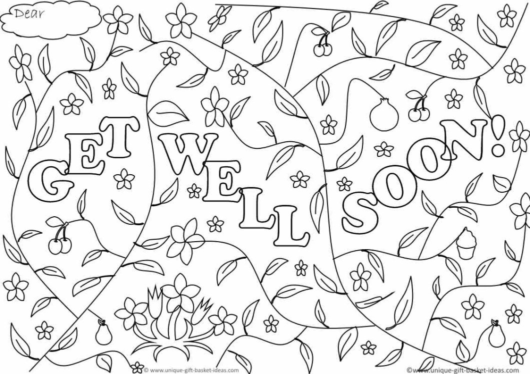 Free Printable Get Well Soon Cards 1 4 | Ncurjh - Free Printable Get Well Cards To Color