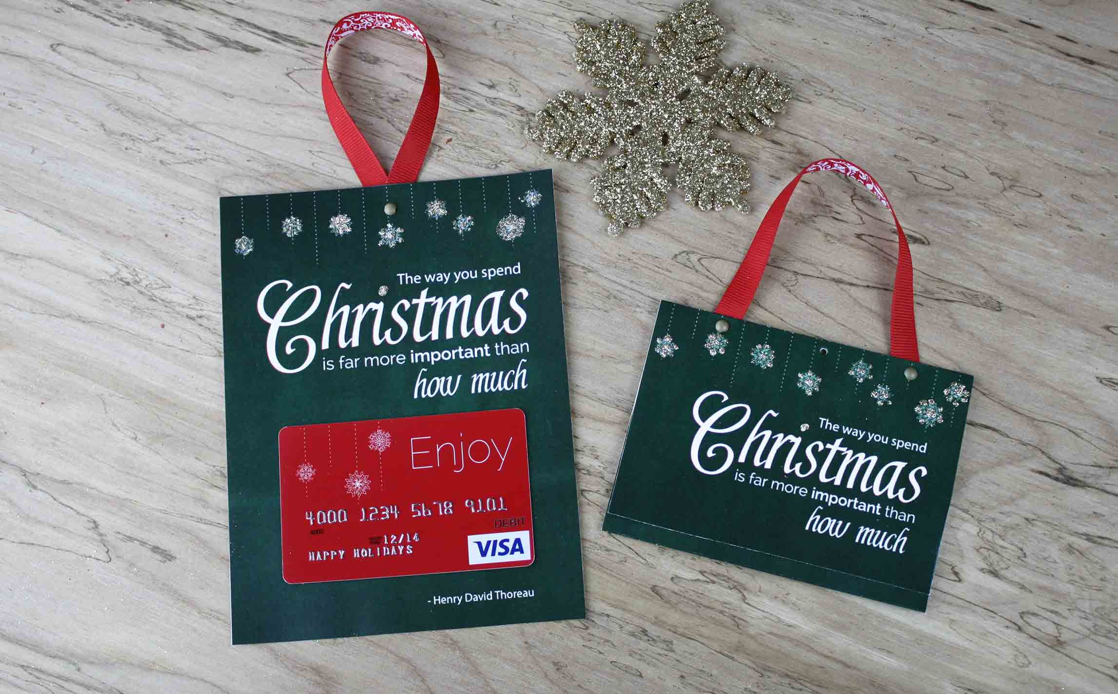 Free Printable| Gift Card Holder Spend Christmas - Create Greeting Cards Online Free Printable