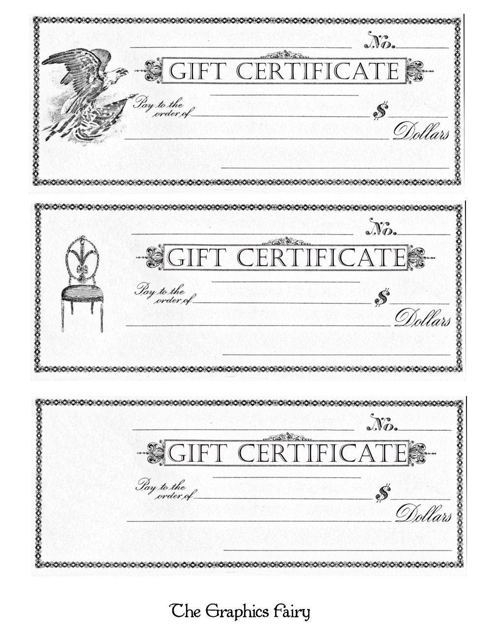 Free Printable - Gift Certificates   Craft Ideas   Pinterest   Free - Free Printable Gift Certificates