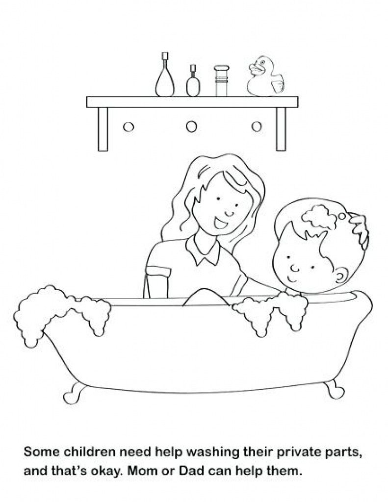 Free Printable Good Touch Bad Touch Coloring Book | Free Printable - Free Printable Good Touch Bad Touch Coloring Book