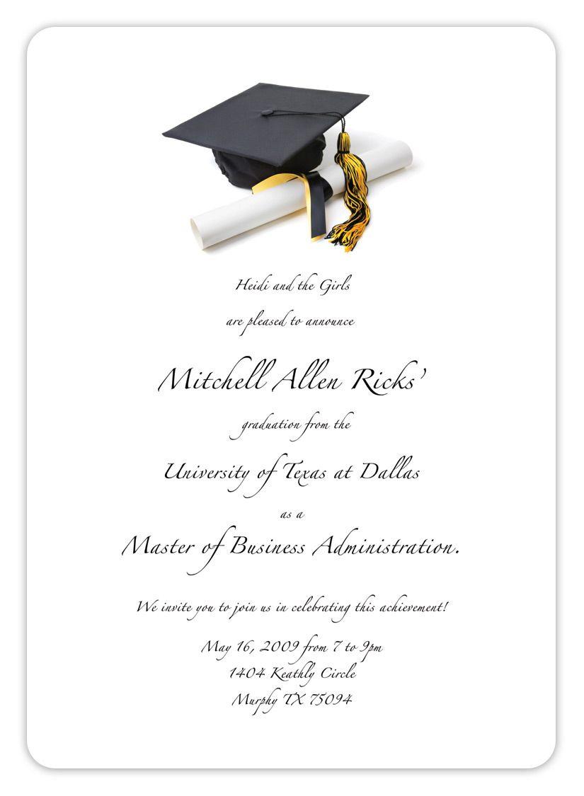 Free Printable Graduation Invitation Templates 2013 2017   Places To - Free Printable Graduation Invitation Templates